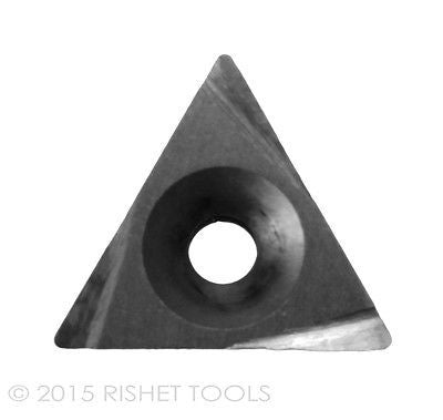 RISHET TOOLS 11280 TPG 321 C5 Uncoated Bright Finish Solid Carbide Inserts Pack of 10