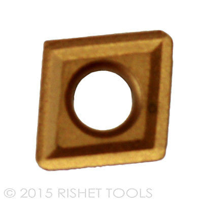 10 PCS RISHET TOOLS CPGT 32.51 C5 Multi Layer TiN Coated Carbide Inserts