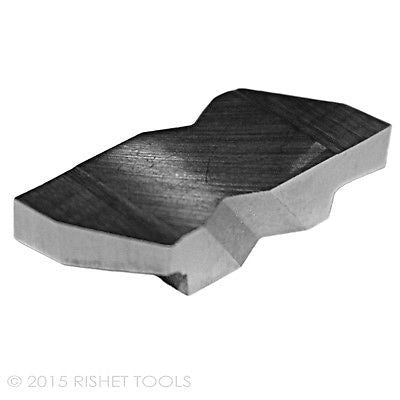 RISHET TOOLS NG 3125L C5 Uncoated Notched Grooving Carbide Inserts (10 PCS)