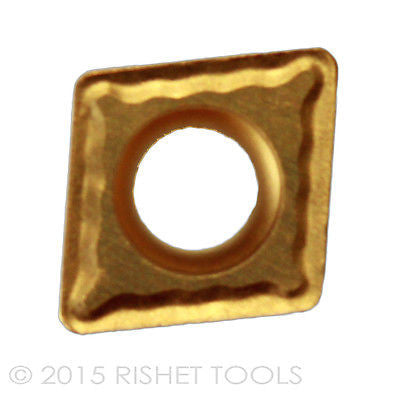 RISHET TOOLS CPMT 32.52 C5 Multi Layer TiN Coated Carbide Inserts (10 PCS)