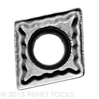 RISHET TOOLS CCMT 32.52 C2 Uncoated Carbide Inserts for Cast Iron (10 PCS)