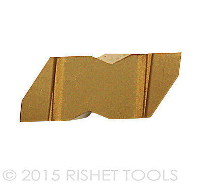 RISHET TOOLS NG 3189R C5 TiN Coated Notched Grooving Carbide Inserts (10 PCS)