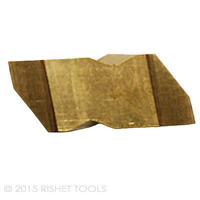 RISHET TOOLS NG 3097R C5 TiN Coated Notched Grooving Carbide Inserts (10 PCS)