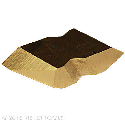 RISHET TOOLS NT 4R C5 Multi Layer TiN Coated Carbide Inserts (10 PCS)