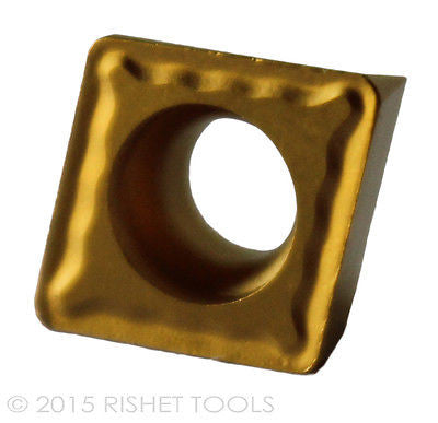 RISHET TOOLS CPMT 32.52 C2 Multi Layer TiN Coated Carbide Inserts (10 PCS)
