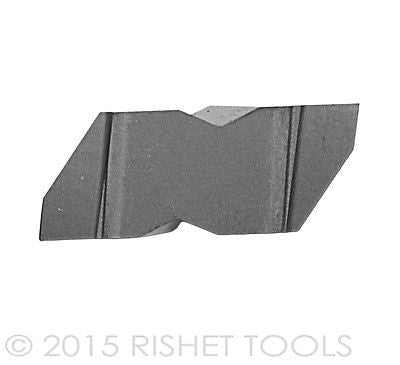 RISHET TOOLS NG 3189L C5 Uncoated Notched Grooving Carbide Inserts (10 PCS)