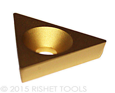 RISHET TOOLS TPGB 321 C5 Multi Layer TiN Coated Carbide Inserts (10 PCS)