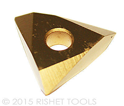 RISHET TOOLS TNMC 43NV C5 Multi Layer TiN Coated Carbide Inserts (10 PCS)