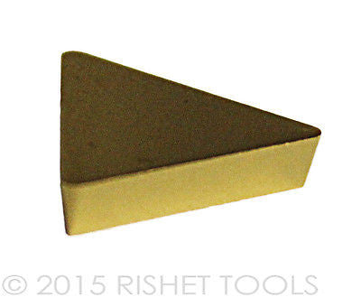 RISHET TOOLS TPG 323 C5 Multi Layer TiN Coated Carbide Inserts (10 PCS)