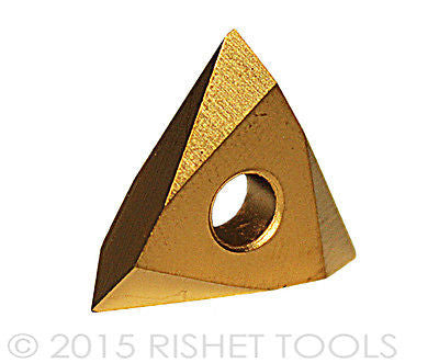 RISHET TOOLS TNMC 32NV C5 Multi Layer TiN Coated Carbide Inserts (10 PCS)