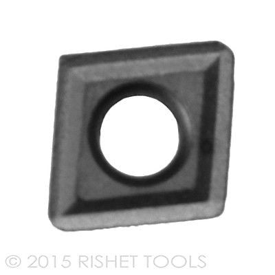 RISHET TOOLS CPGT 32.51 C2 Uncoated Carbide Inserts (10 PCS)