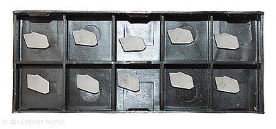 RISHET TOOLS GTN-2 C5 Uncoated Carbide Inserts (10 PCS)