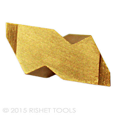 RISHET TOOLS NG 2031L C5 TiN Coated Notched Grooving Carbide Inserts (10 PCS)