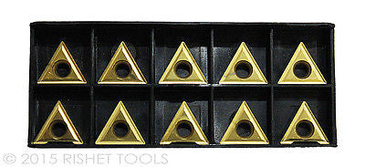 RISHET TOOLS TT 322 C5 Multi Layer TiN Coated Carbide Inserts 10 PCS
