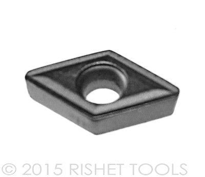 RISHET TOOLS DCMT 21.51 C2 Uncoated Carbide Inserts (10 PCS)