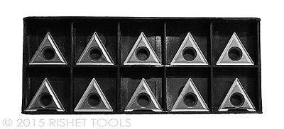 RISHET TOOLS TT 433 C5 Uncoated Carbide Inserts (10 PCS)
