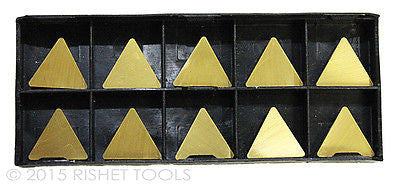 RISHET TOOLS TPU 321 C5 Multi Layer TiN Coated Carbide Inserts (10 PCS)