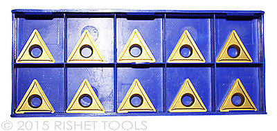 10 PCS RISHET TOOLS TCMT 32.52 C2 Multi Layer TiN Coated Carbide Inserts