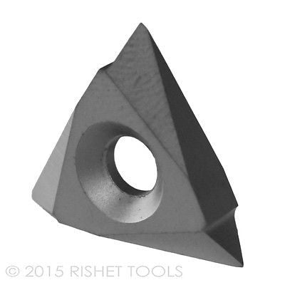 RISHET TOOLS TPMC 43NV C2 Uncoated Carbide Inserts (10 PCS)
