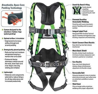 MILLER BY HONEYWELL AC-QC-BDP/UGN AIRCORE Full Body Harness