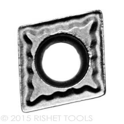 RISHET TOOLS CCMT 21.51 C2 Uncoated Carbide Inserts for Cast Iron (10 PCS)