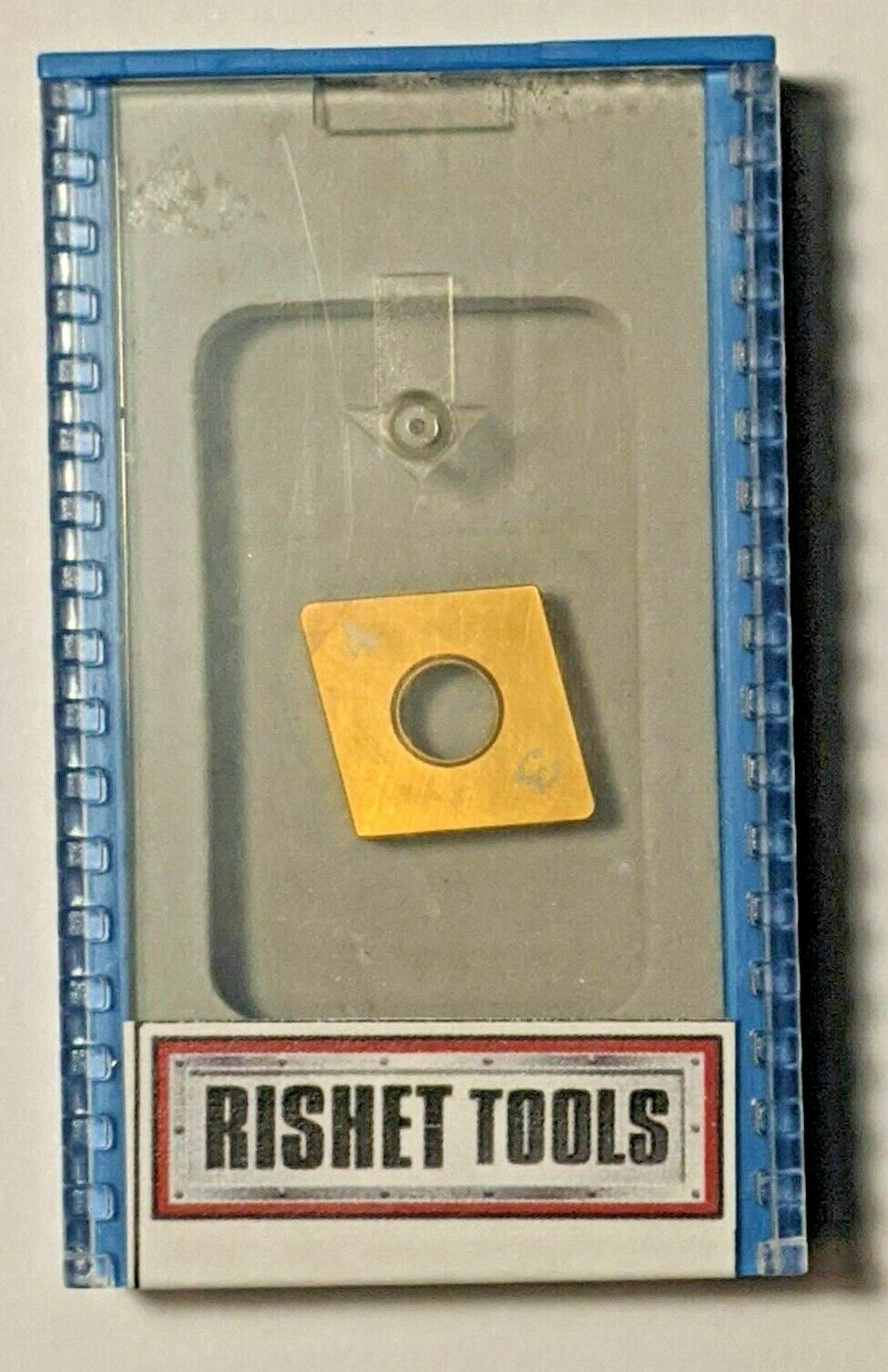 RISHET TOOLS CNGA 432-4N S0102510 CBN carbide insert Grade PNH3019, Tip Shape CBST30C1, TIN Coated, 4 tips for turning Hardened Steel - Heavy Interrupted cutting