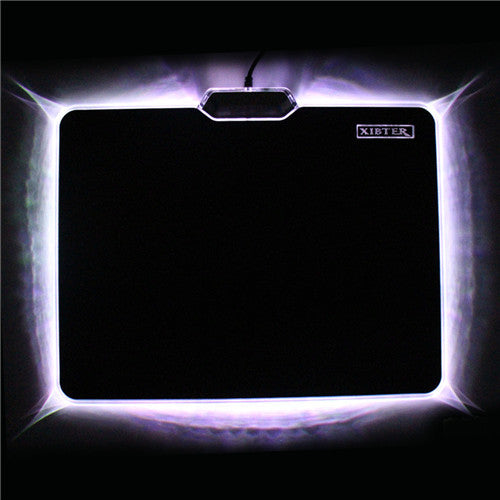Hot Sale Cool Glowing Mouse Pad 300x240mm Non-skid Rubber Bottom LED Light Edge Mousepad
