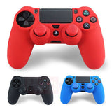 Flexible Gel Rubber Skin Cover For Sony PS4 Controller+2pcs Thumbstick JoyStick Silicone Caps