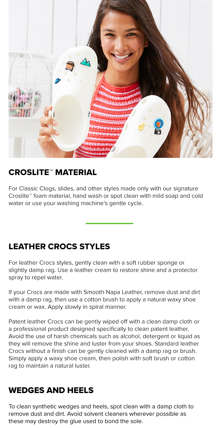 Crocs care guide how to clean your crocs