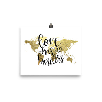 World Map Art Print | Love