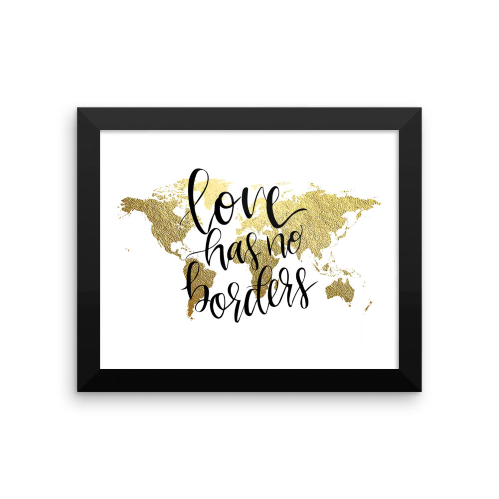 Framed World Map Print | Love