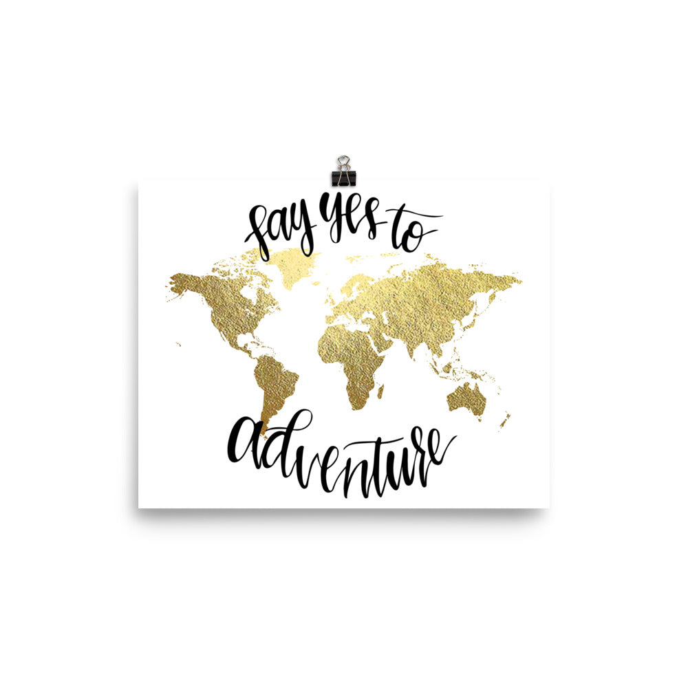 World Map Art Print | Say Yes