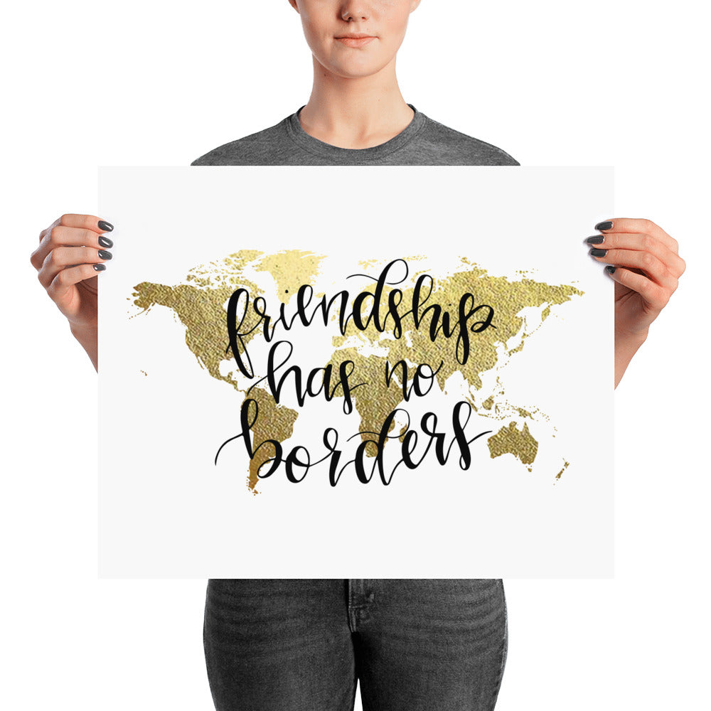 World Map Art Print | Friendship