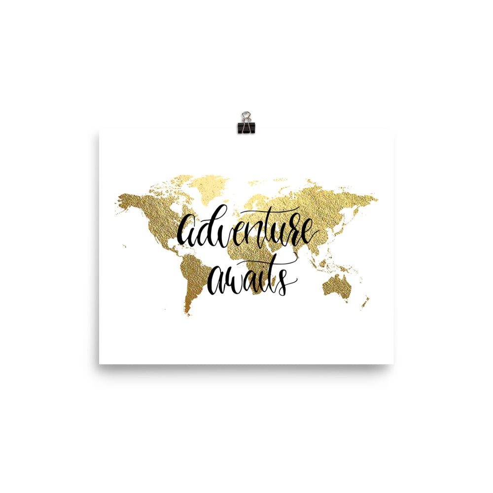 World Map Art Print | Adventure Awaits