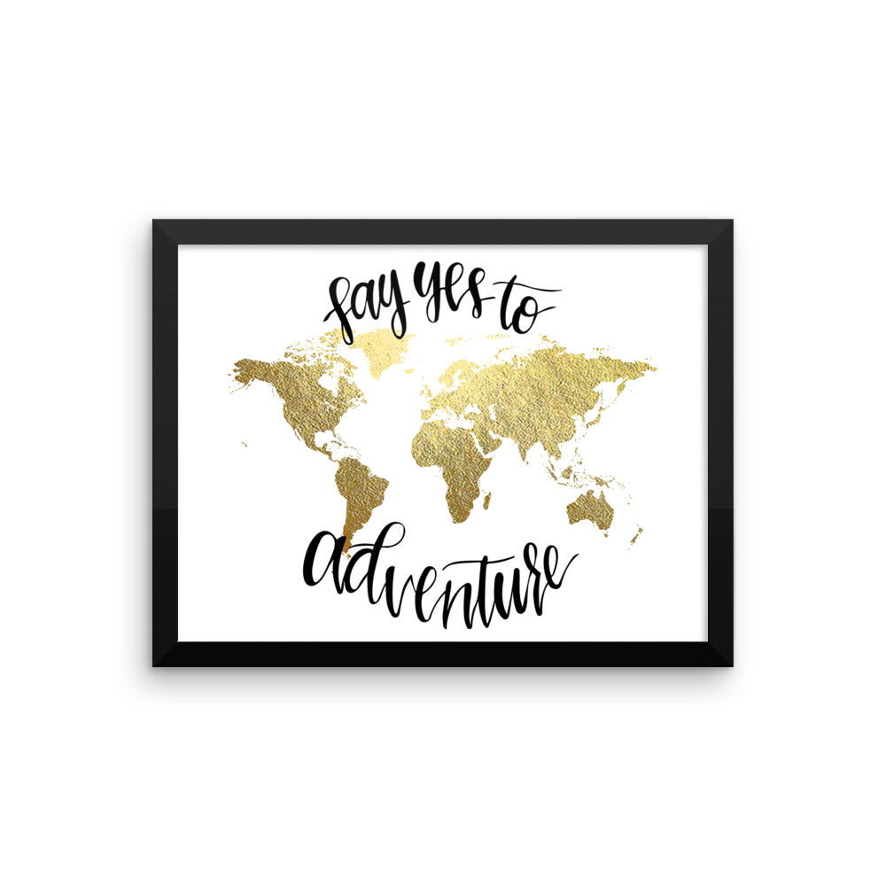 Framed World Map Print | Say Yes