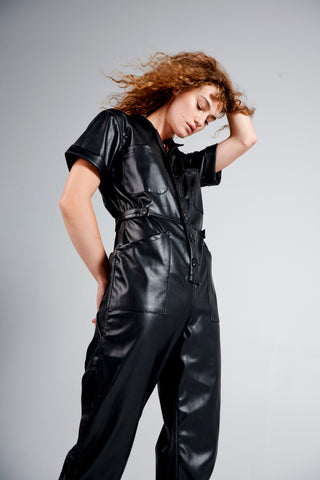 Grover Vegan leather Field Suit - Onyx