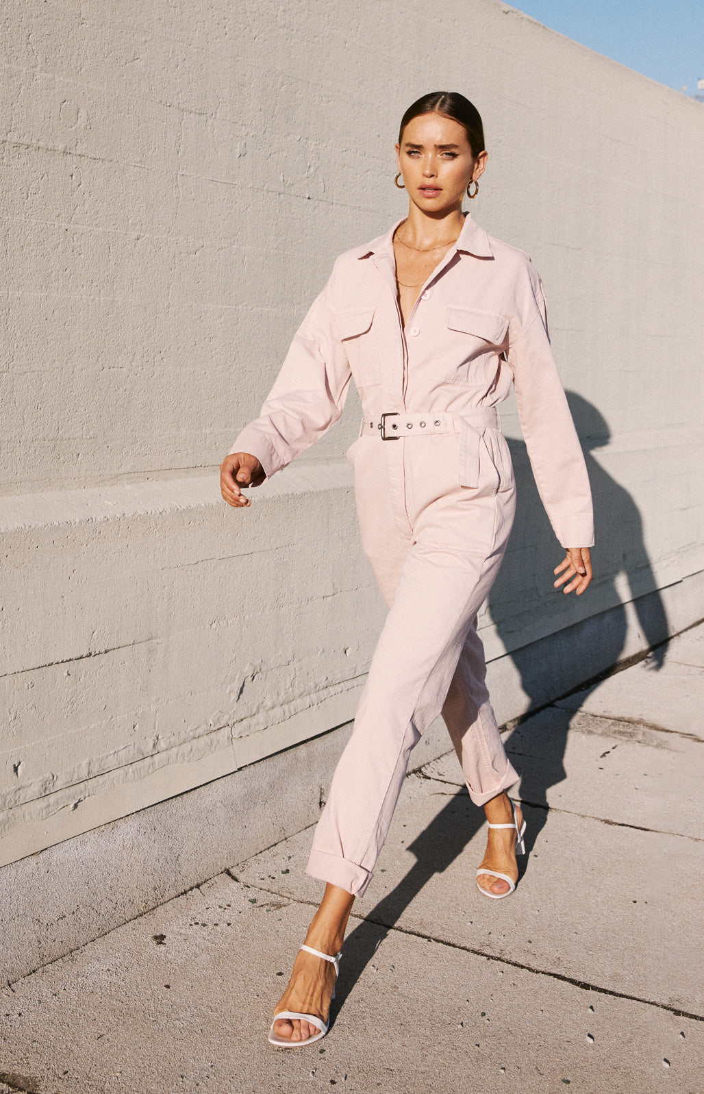 Celia Long Sleeve Jumpsuit - Vintage Rose