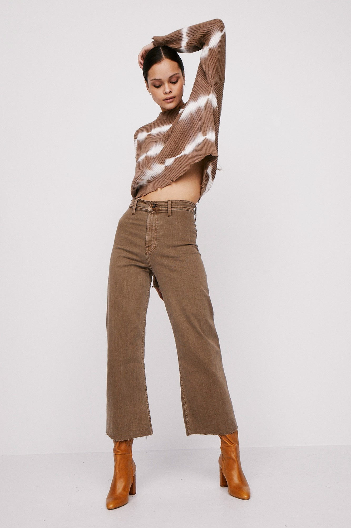 Penny Wide Leg Crop - Casablanca