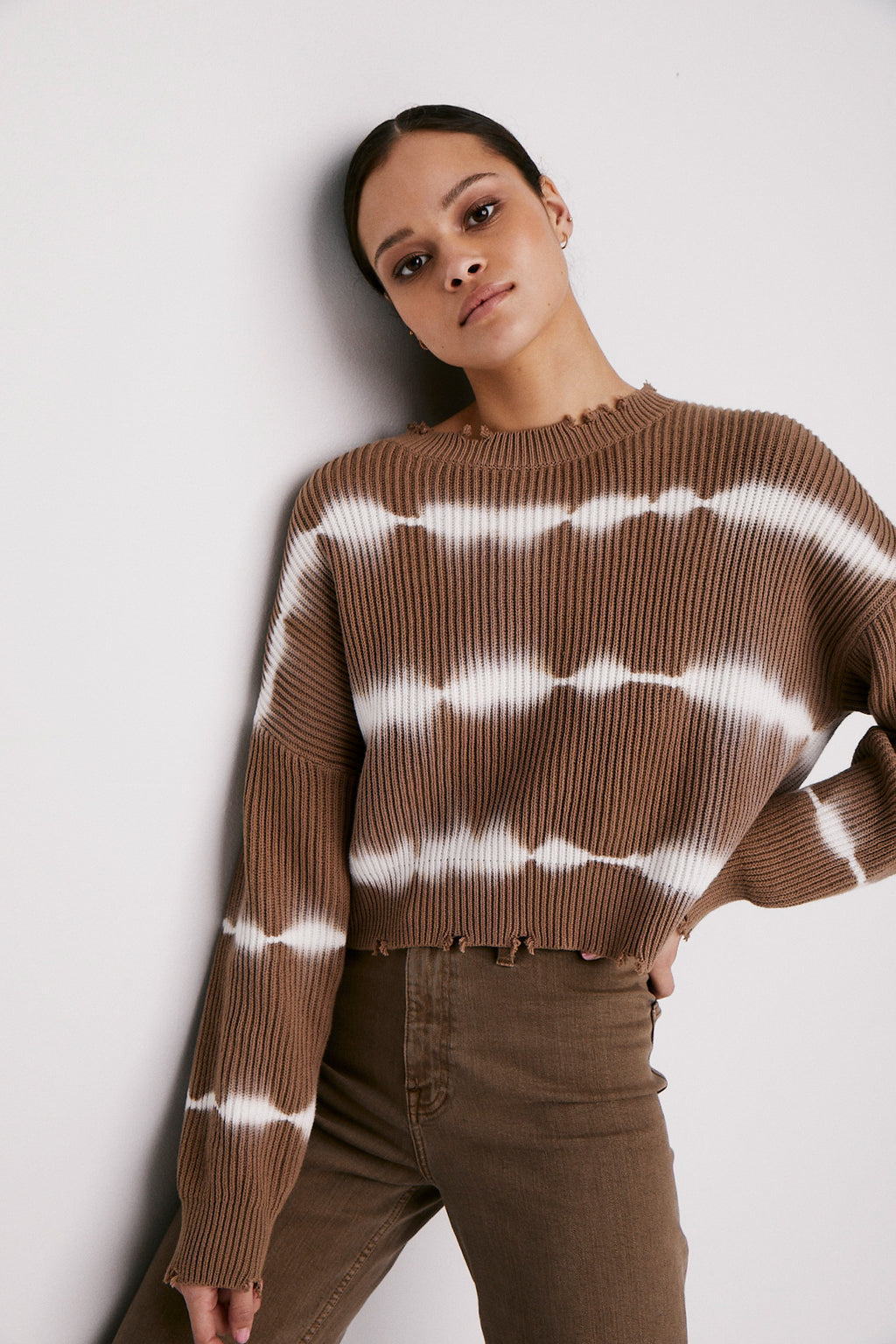 Eva Thick Stripe Crop Sweater - Breakin