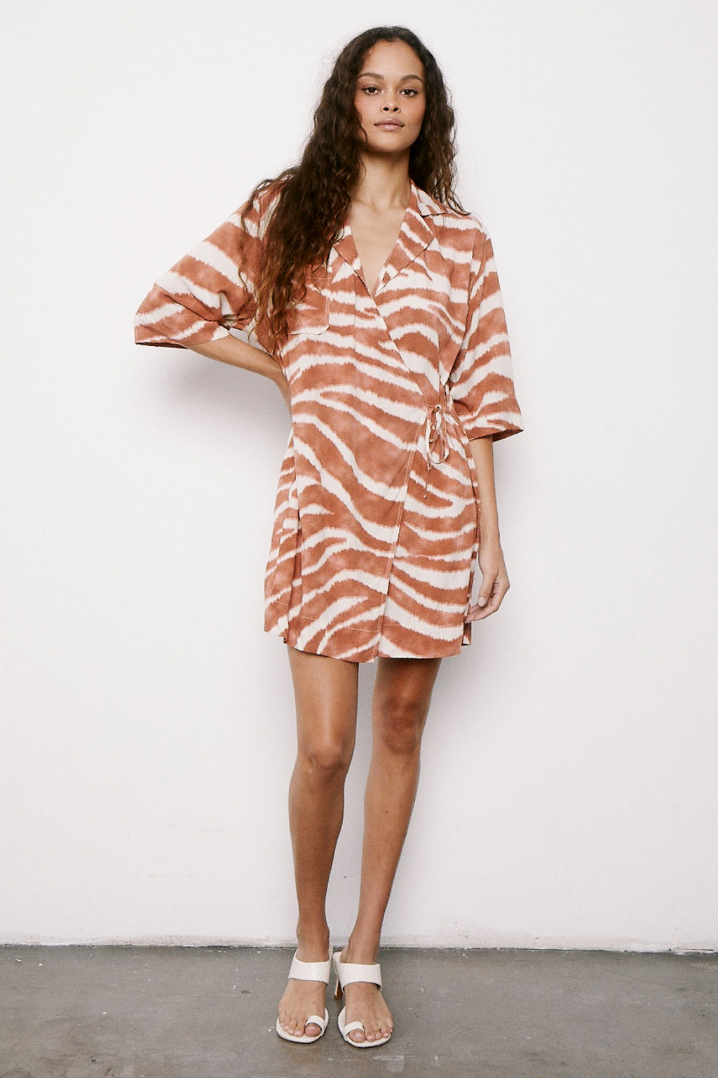 Fiona Wrap Dress - Safari Dress