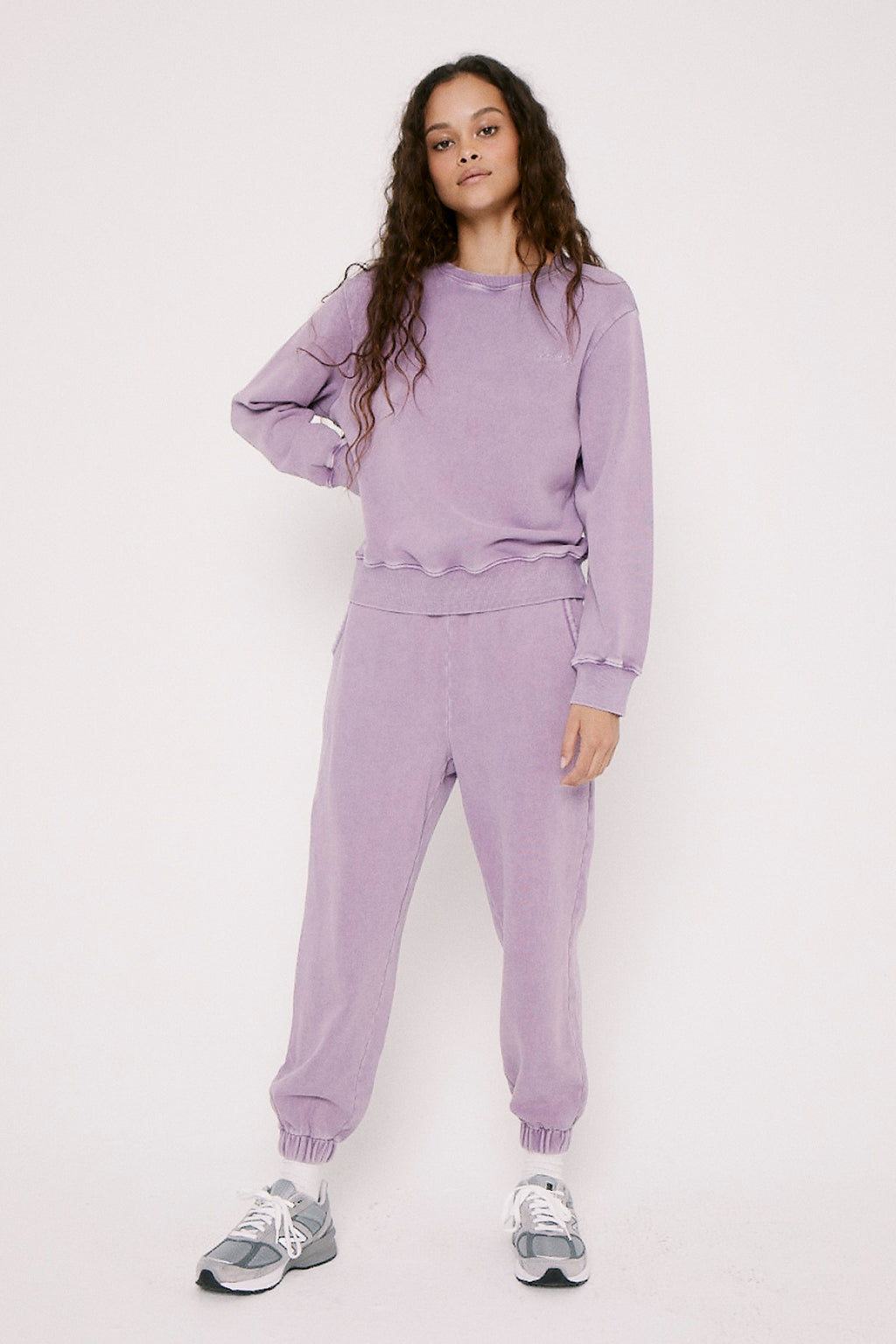 Wynn Cozy Sweatpant With Embroidery - Purple Haze