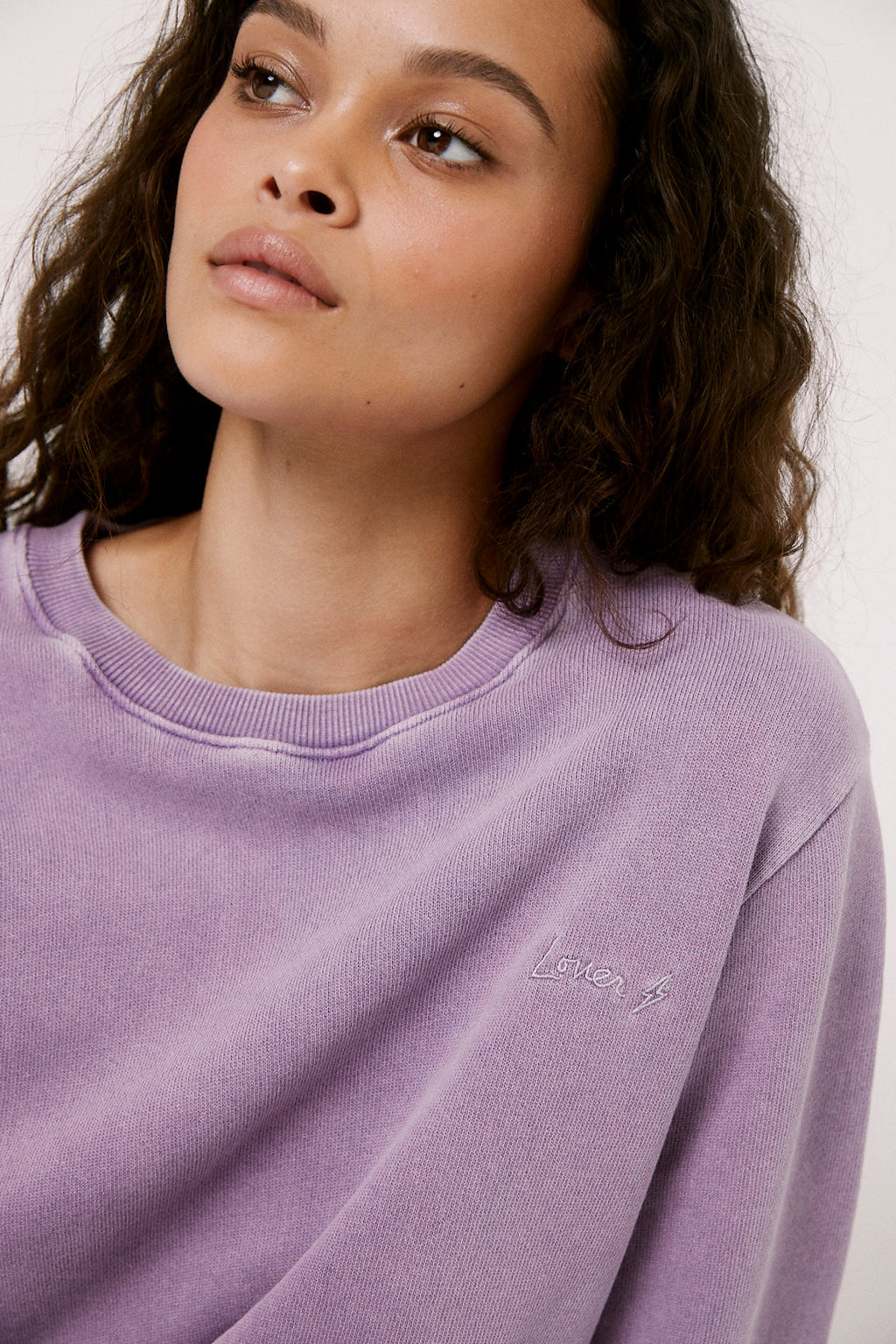 Nikki Embrodered Sweatshirt - Purple Haze