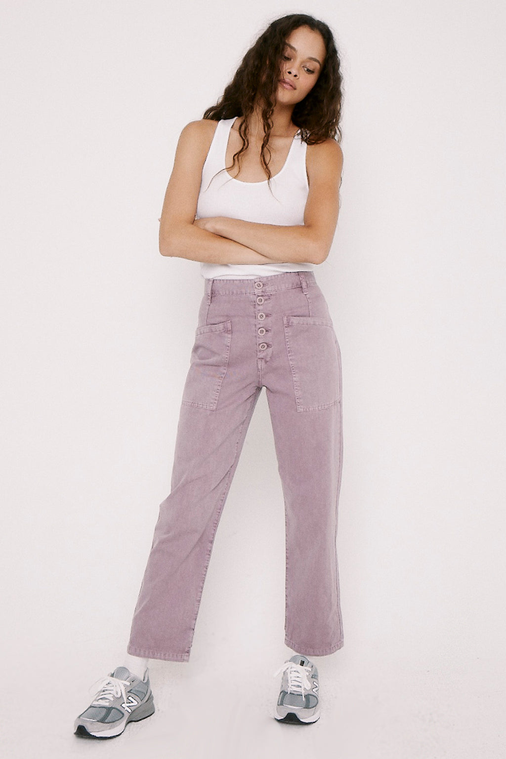 Tammy High Rise Trouser - Lilac Dust