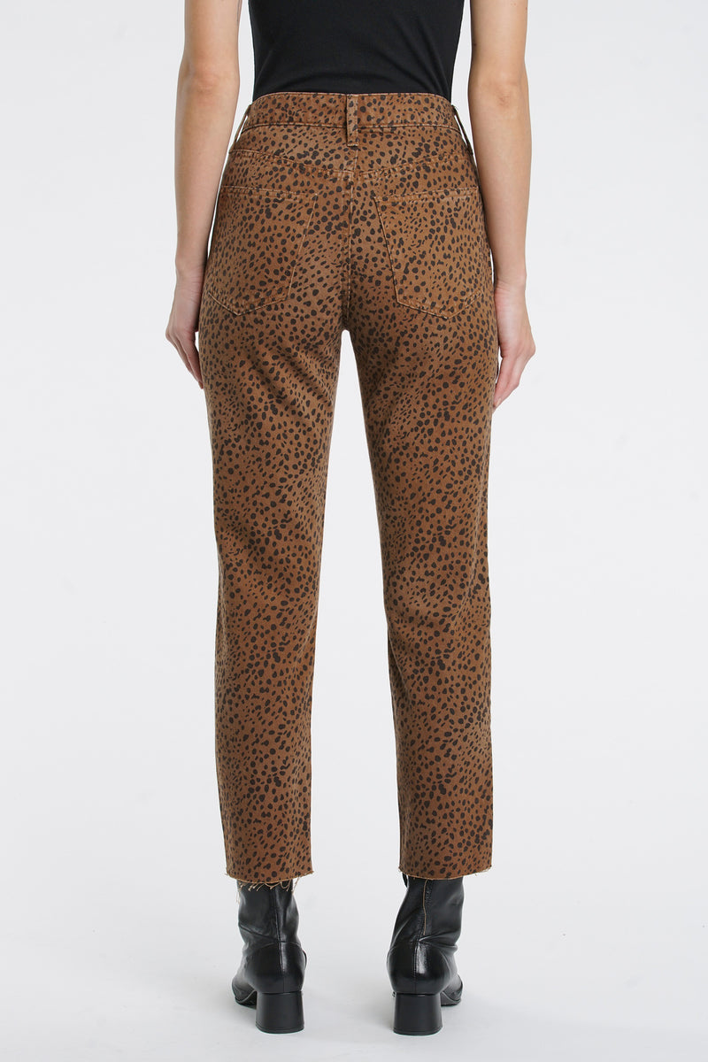Charlie High Rise Straight Leg - Cheetah Savanna