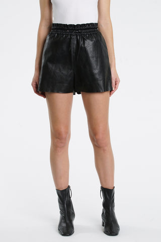 Chels Leather Short - Black