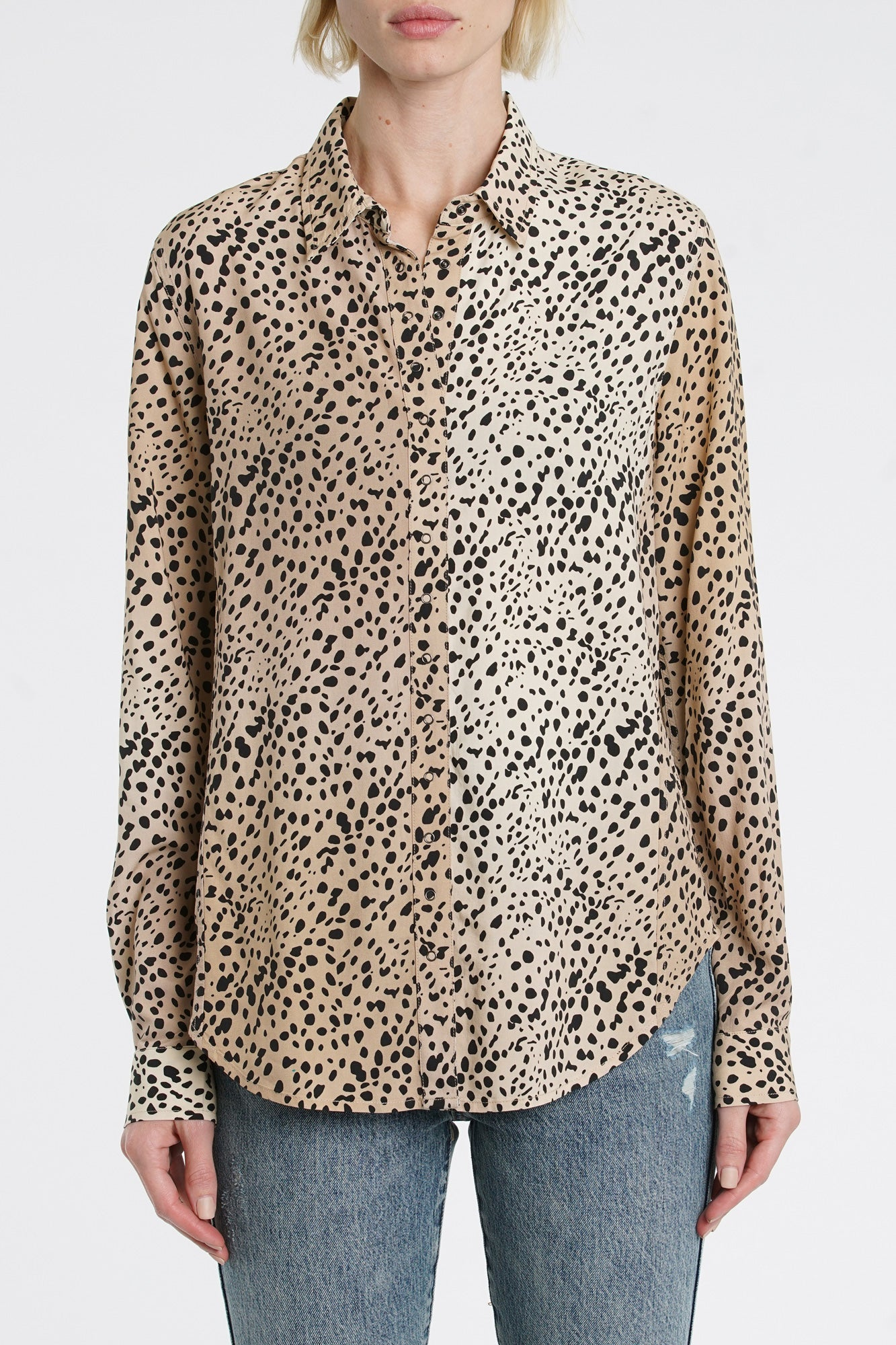 Elle Long Sleeve Baby Snap Shirt - Wild Spots