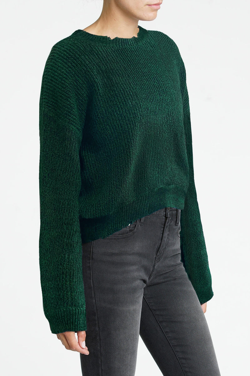 Eva Cropped Sweater - Green Gables