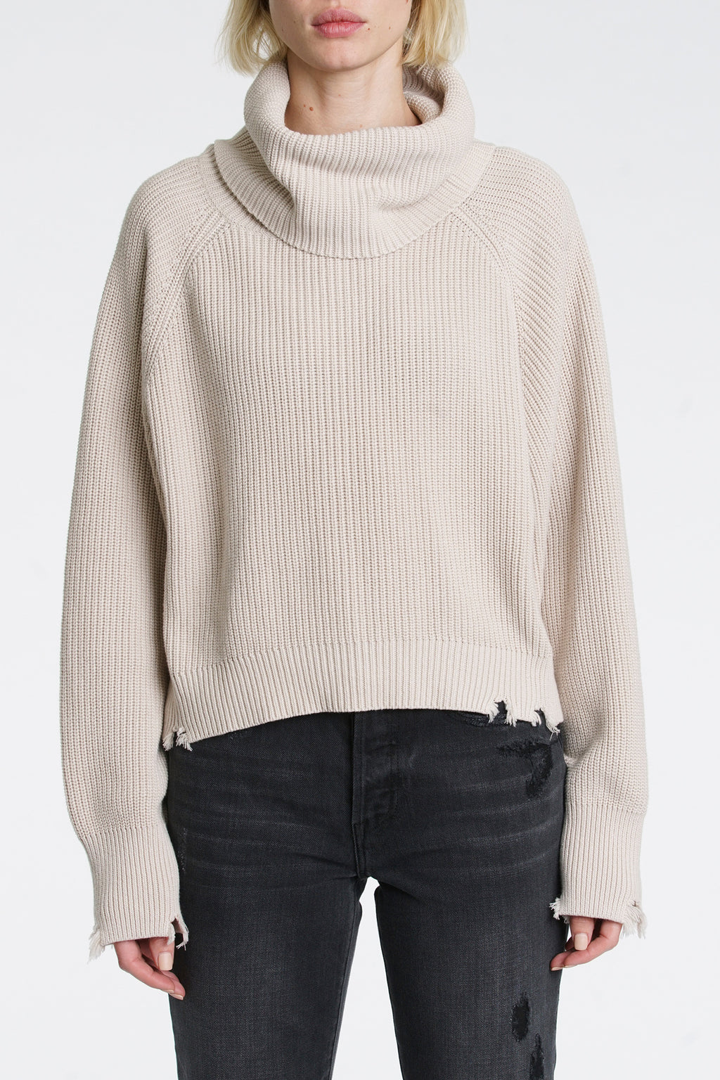 Hadley Turtleneck Sweater - Dove