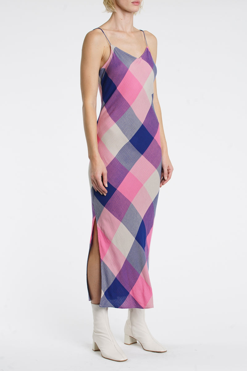 Mari Slip Dress - Huston Plaid