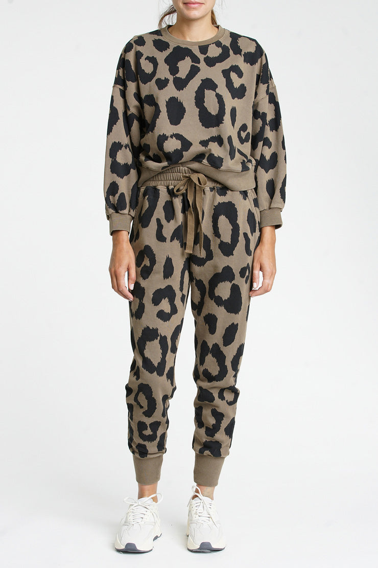 Misha Sweatshirt - Safari Graphic Leopard